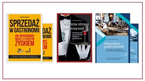 biblioteka menedżera gastronomii okładki poradników