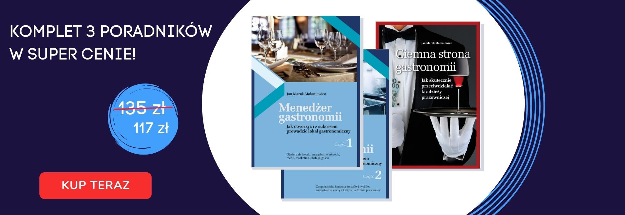 komplet okładki menedżer gastronomii i ciemna strona gastronomii