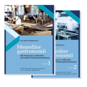 okładki Menedżer gastronomii część 1 i 2