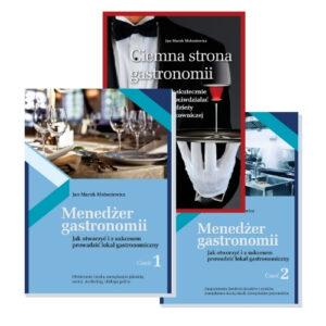 okładki zestaw Menedżer gastronomii oraz ciemna strona