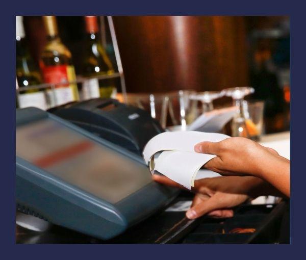 kasa fiskalna, paragon średni rachunek w gastronomii